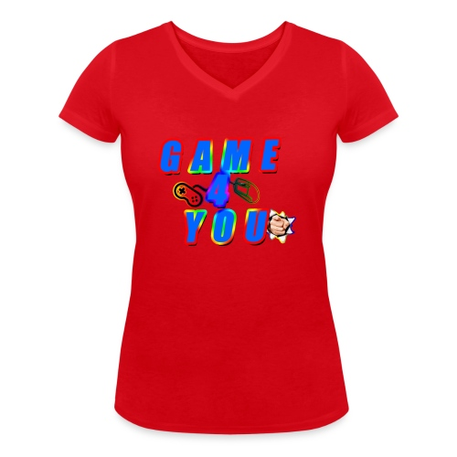 Game4You - Women's Organic V-Neck T-Shirt by Stanley & Stella