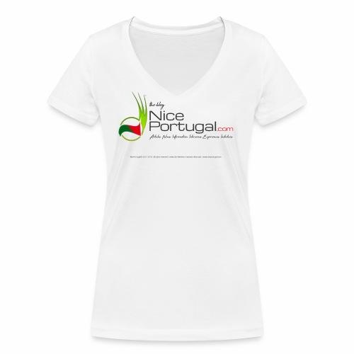 NicePortugal.com Logo - T-shirt ecologica da donna con scollo a V di Stanley & Stella