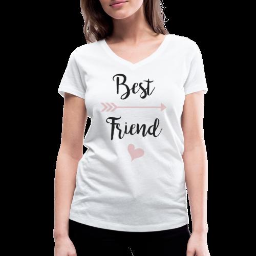 Best friend - Frauen Bio-T-Shirt mit V-Ausschnitt von Stanley & Stella