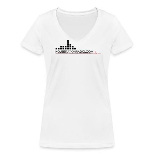 Housestation Radio - T-shirt ecologica da donna con scollo a V di Stanley & Stella