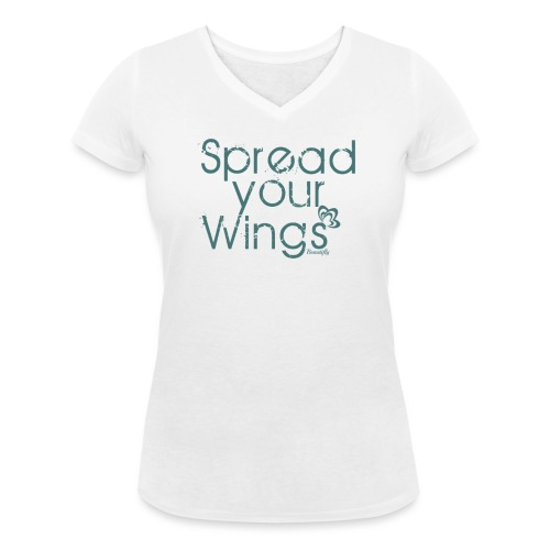 Spread Your Wings - Women's Organic V-Neck T-Shirt by Stanley & Stella