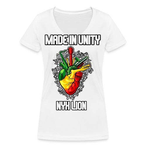 t shirt miu 2k14 nyx lion - T-shirt bio col V Stanley & Stella Femme