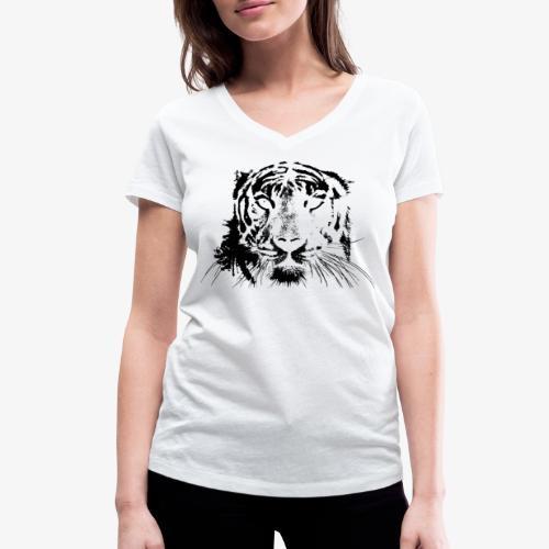 BLACK TIGER - Camiseta ecológica mujer con cuello de pico de Stanley & Stella