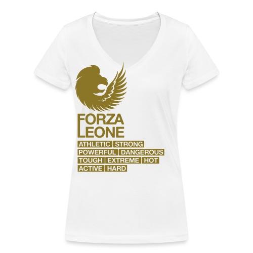 Power shirt - Forza Leone - Vrouwen bio T-shirt met V-hals van Stanley & Stella