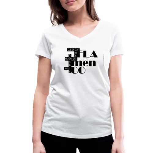 Crucigrama Flamenco - Camiseta ecológica mujer con cuello de pico de Stanley & Stella