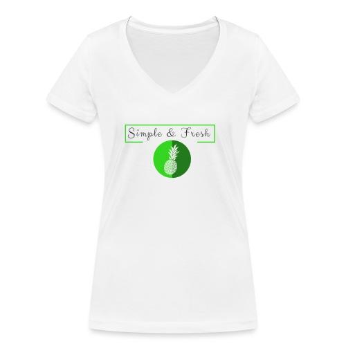 Simple et Fresh - T-shirt bio col V Stanley & Stella Femme