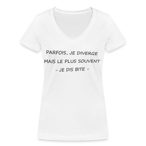 bite png - T-shirt bio col V Stanley & Stella Femme