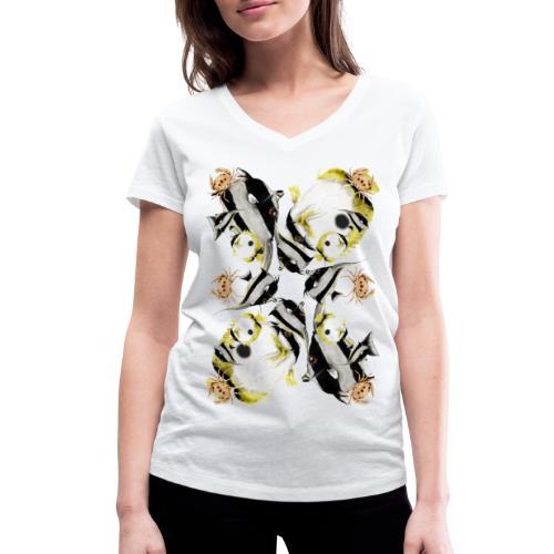 Vita oceanica - T-shirt ecologica da donna con scollo a V di Stanley & Stella