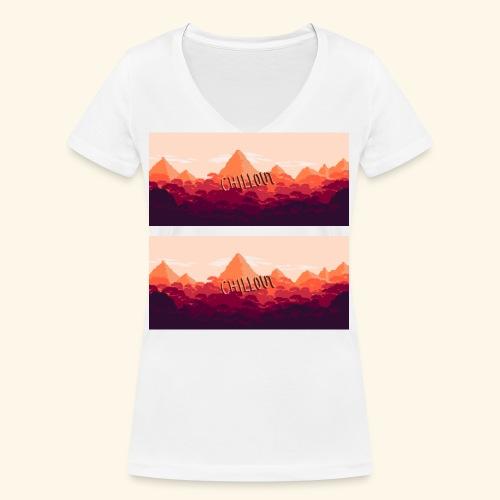 chillmountainz png - Frauen Bio-T-Shirt mit V-Ausschnitt von Stanley & Stella