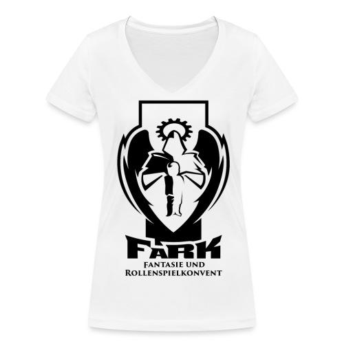 fark_logo_outline_black - Frauen Bio-T-Shirt mit V-Ausschnitt von Stanley & Stella