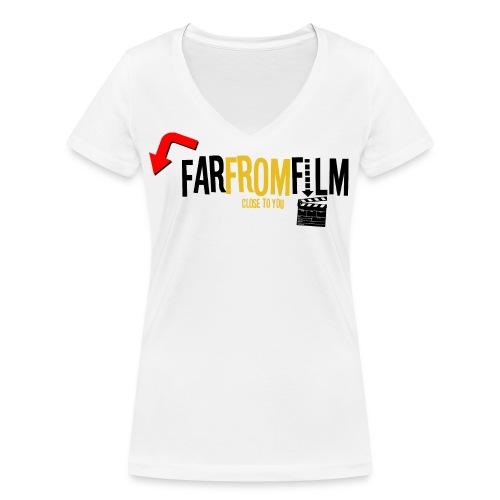 FarFromFilm FB 1 blk - Women's Organic V-Neck T-Shirt by Stanley & Stella