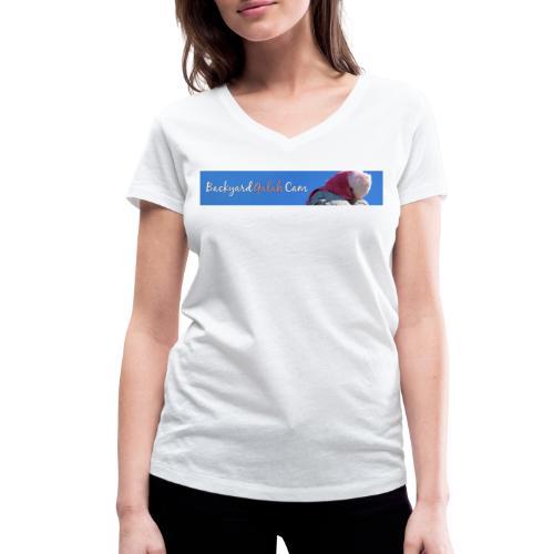 galah logo bird banner - Women's Organic V-Neck T-Shirt by Stanley & Stella
