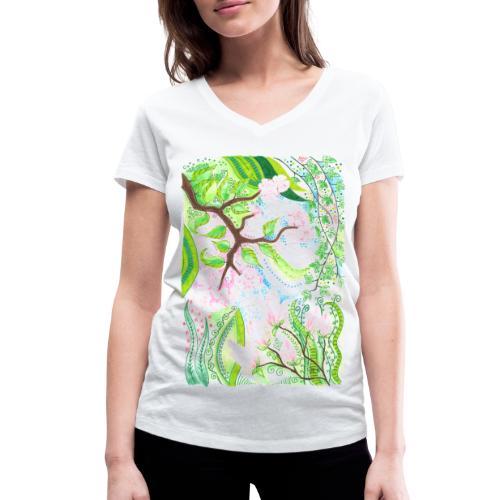 Äppelblom - Ekologisk T-shirt med V-ringning dam från Stanley & Stella