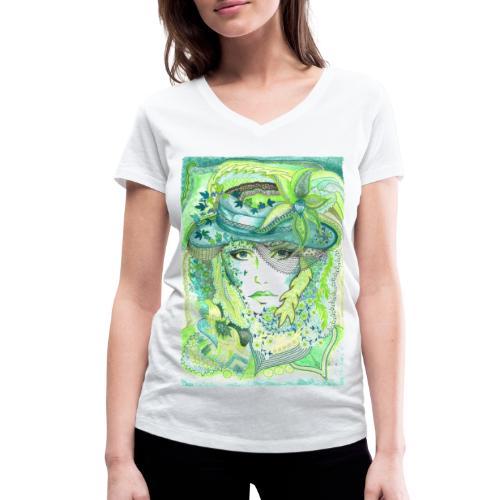 Tant Grön - Ekologisk T-shirt med V-ringning dam från Stanley & Stella
