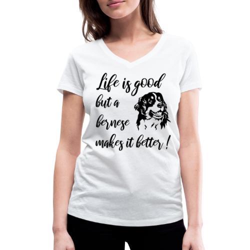 Bernese mountain dog - Vrouwen bio T-shirt met V-hals van Stanley & Stella