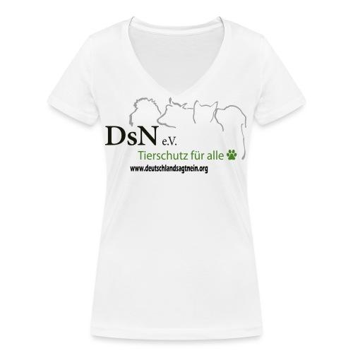 Logo mit Web - Frauen Bio-T-Shirt mit V-Ausschnitt von Stanley & Stella