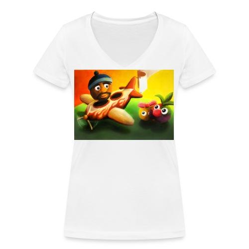 fruts5 jpg - Women's Organic V-Neck T-Shirt by Stanley & Stella