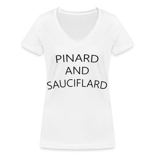 Sauciflard - T-shirt bio col V Stanley & Stella Femme