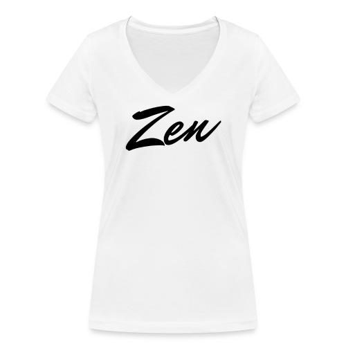 Zenify Shirt Logo - Women's Organic V-Neck T-Shirt by Stanley & Stella