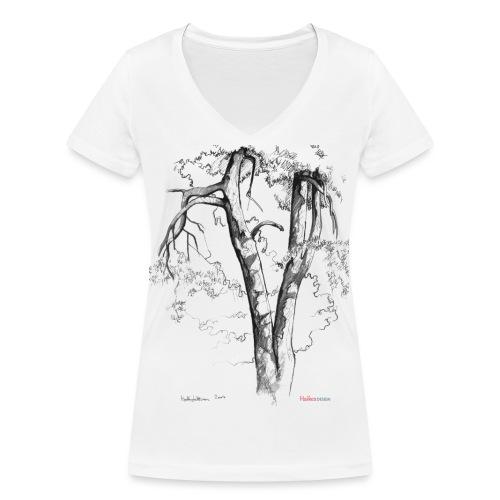 Halaus, Hug - Stanley & Stellan naisten v-aukkoinen luomu-T-paita