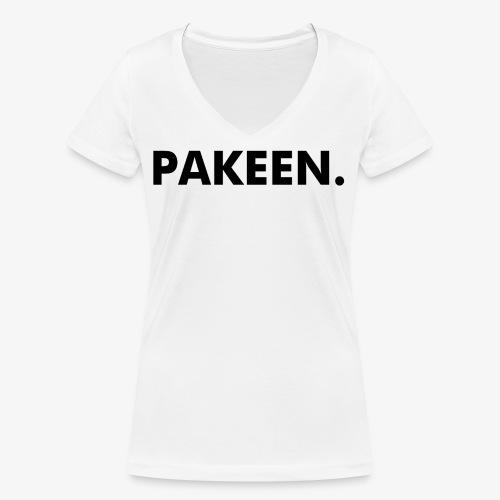 Pak Een Punt Horizontaal - Vrouwen bio T-shirt met V-hals van Stanley & Stella