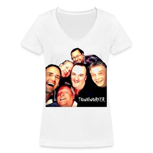 TownworkerBand2 - Frauen Bio-T-Shirt mit V-Ausschnitt von Stanley & Stella