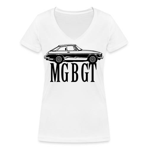 MG MGB GT - Autonaut.com - Women's Organic V-Neck T-Shirt by Stanley & Stella
