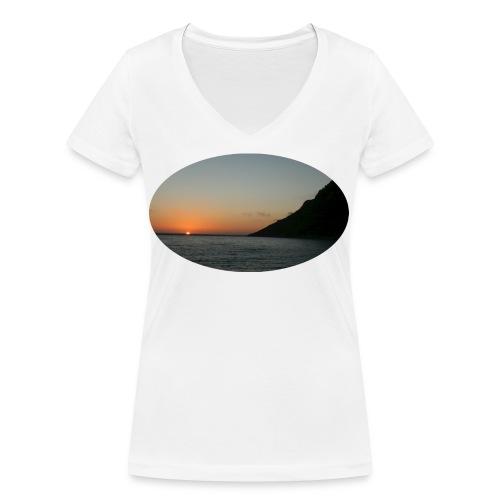 midnattsol 7650a png - Økologisk T-skjorte med V-hals for kvinner fra Stanley & Stella