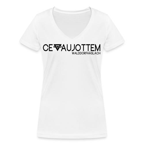 motiv1 black png - Frauen Bio-T-Shirt mit V-Ausschnitt von Stanley & Stella