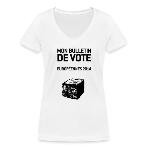 bulletin_europeene - T-shirt bio col V Stanley & Stella Femme