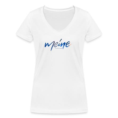 Meine Logo Blau - Frauen Bio-T-Shirt mit V-Ausschnitt von Stanley & Stella