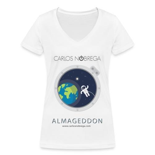 ALMAGEDDON POSTAL ASTRONAUTA jpg - Camiseta ecológica mujer con cuello de pico de Stanley & Stella