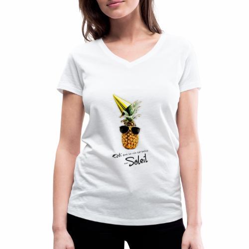 Esti que la vie est belle au Soleil - T-shirt bio col V Stanley & Stella Femme