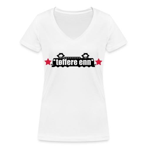 tøffere enn toget - Økologisk T-skjorte med V-hals for kvinner fra Stanley & Stella