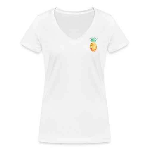 pinety logo print - Økologisk Stanley & Stella T-shirt med V-udskæring til damer