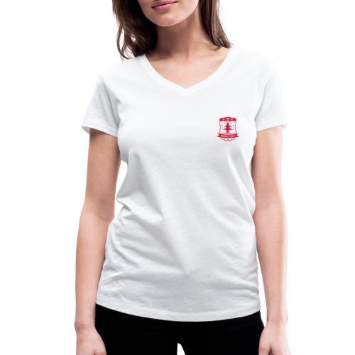 Frohes Fest Wappen - Frauen Bio-T-Shirt mit V-Ausschnitt von Stanley & Stella
