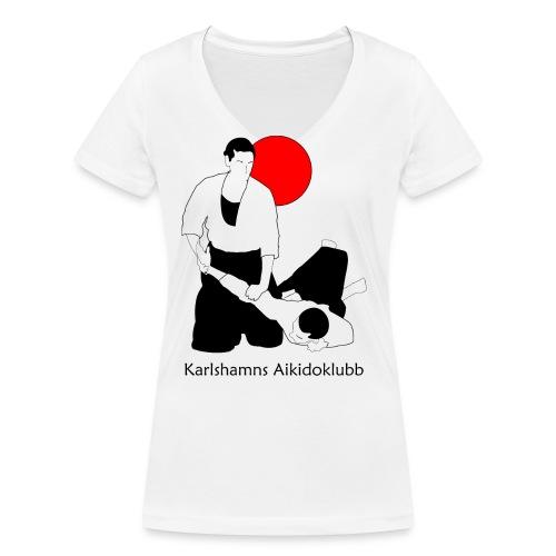ikkyo med sol och text 4000 - Ekologisk T-shirt med V-ringning dam från Stanley & Stella