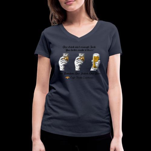 One Bourbon, One Scotch, - Vrouwen bio T-shirt met V-hals van Stanley & Stella