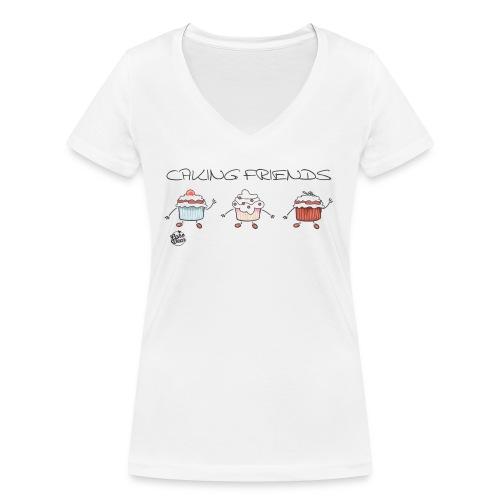 caking friends - Frauen Bio-T-Shirt mit V-Ausschnitt von Stanley & Stella