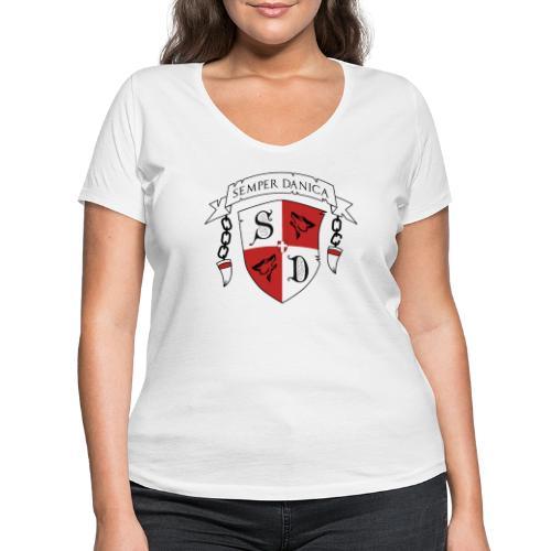 SD logo - sorte lænker - Økologisk Stanley & Stella T-shirt med V-udskæring til damer