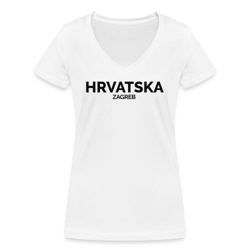 Hrvatska x City (Zagreb) - Women's Organic V-Neck T-Shirt by Stanley & Stella