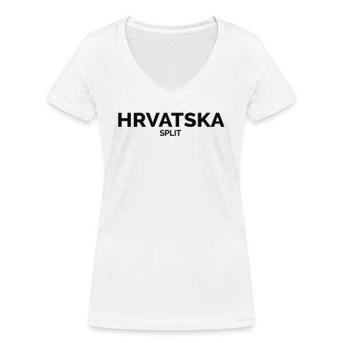 HRVATSKA X CITY (Split) - Women's Organic V-Neck T-Shirt by Stanley & Stella