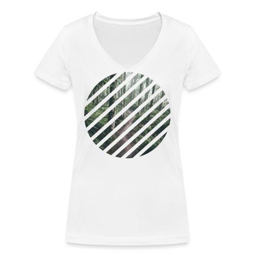 Fôret en sphère - T-shirt bio col V Stanley & Stella Femme