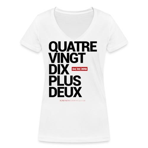 Quatre-Vingt-Dix Plus Deux | #SRFCEAG - T-shirt bio col V Stanley & Stella Femme