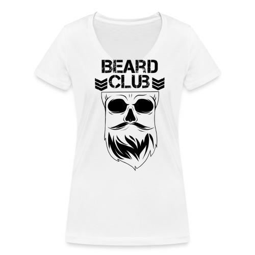Beard Club schwarz - Frauen Bio-T-Shirt mit V-Ausschnitt von Stanley & Stella
