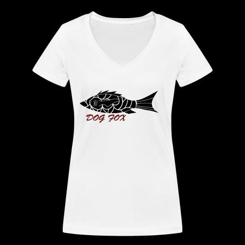 Dogfox Fisch - Frauen Bio-T-Shirt mit V-Ausschnitt von Stanley & Stella