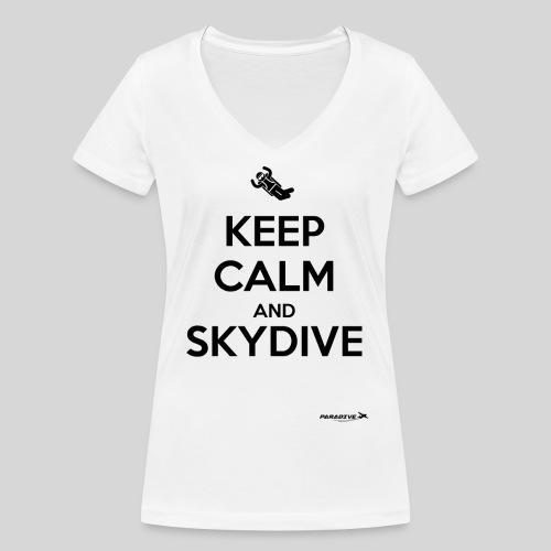 Keep calm and skydive - T-shirt bio col V Stanley & Stella Femme