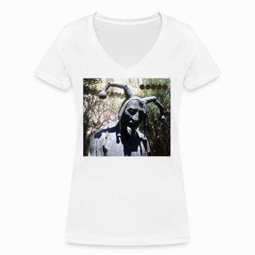 jester mantova - Women's Organic V-Neck T-Shirt by Stanley & Stella