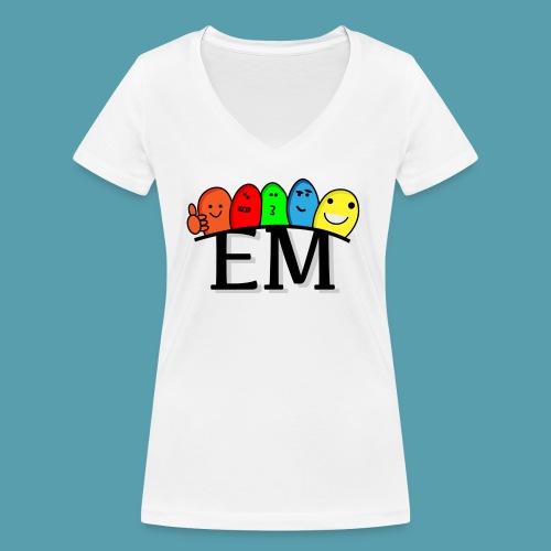 EM - Stanley & Stellan naisten v-aukkoinen luomu-T-paita