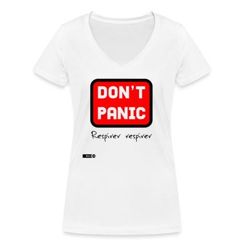 don't panic, respirer - T-shirt bio col V Stanley & Stella Femme